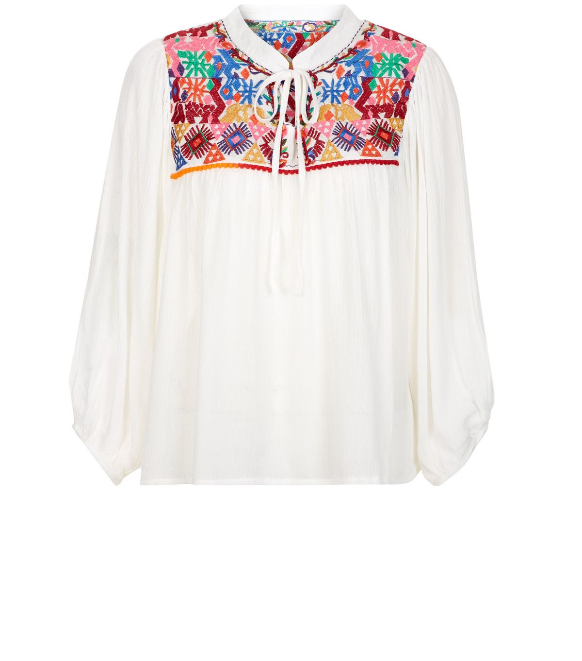 blue-vanilla-cream-embroidered-smock-top