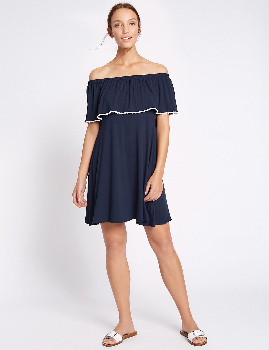 bardot shift dress