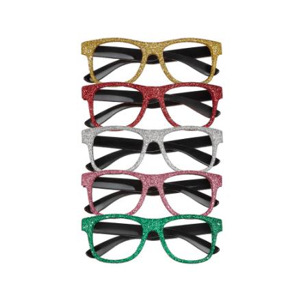 glittery glasses