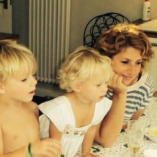 Amelia with her gorgeous children