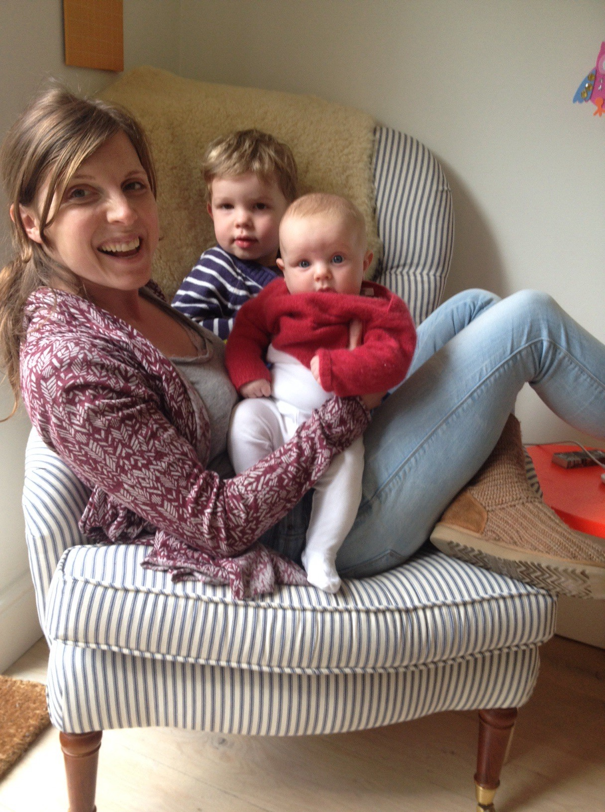 Georgie with 2 of her children