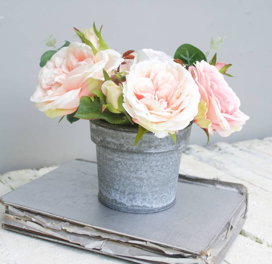original_apricot-and-pink-rose-faux-bouquet