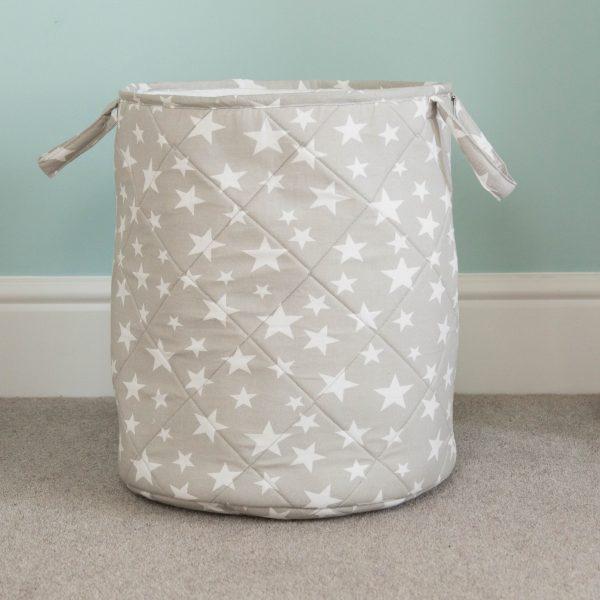 grey star laundry basket