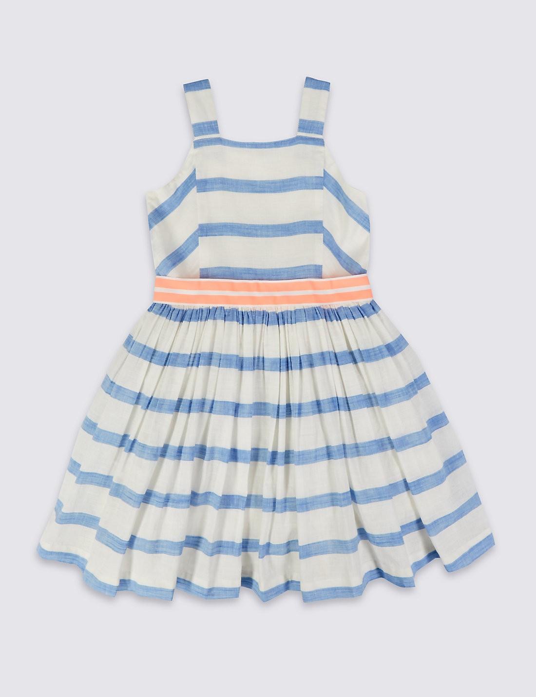 Cotton Rich Stripe Dress