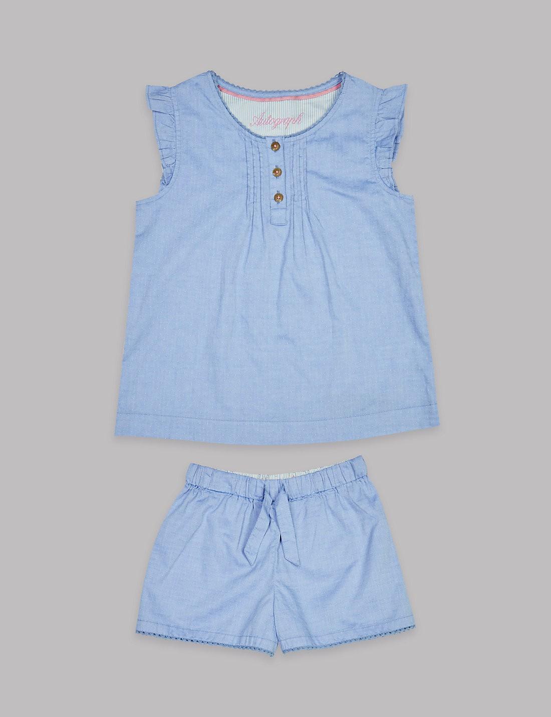 Blue Cotton PJs