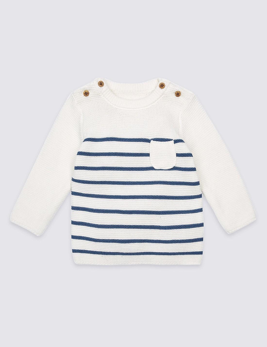 Baby Blue & White Stripe Jumper
