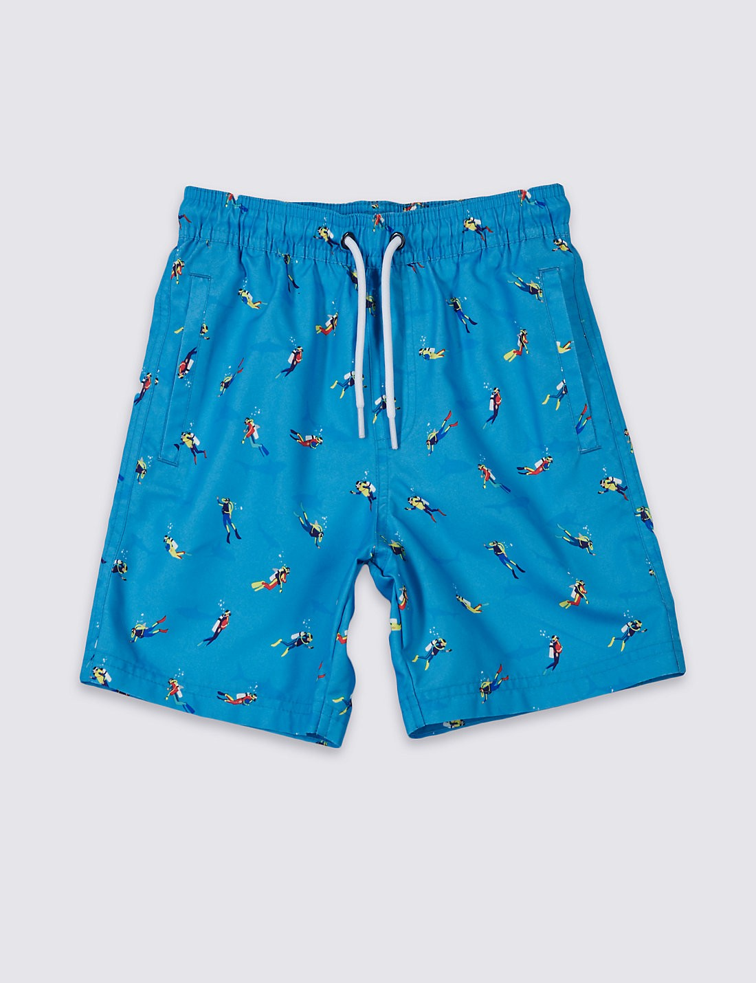 Electric Blue Boys Swimming Trunks
