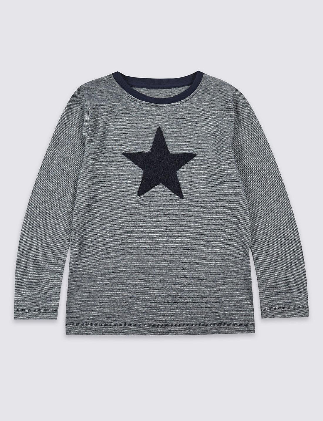 Boys Long Sleeve Star Top