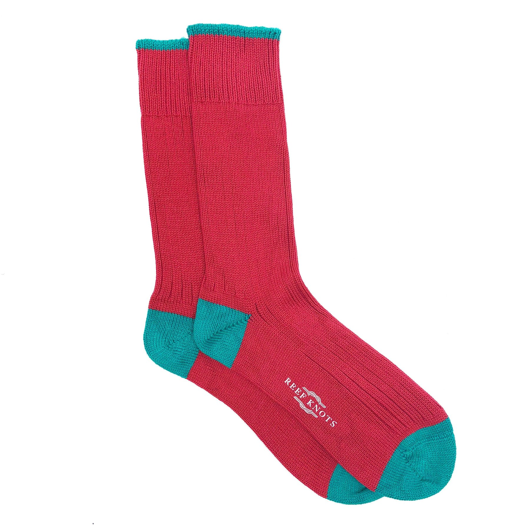 chunky red socks