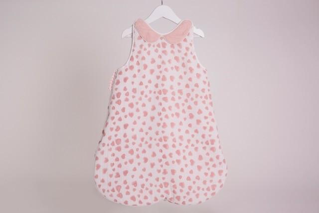 Pink Heart Sleep Suit