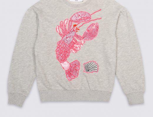 Lobster Sequin Sweater