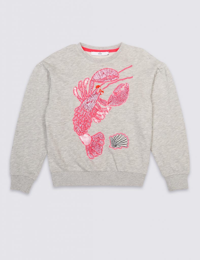 Lobster Sequin Sweater