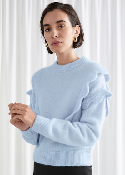 & Other Stories Knitwear - blue jumper