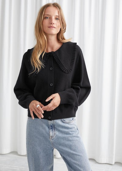 & Other Stories Knitwear - black cardigan