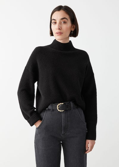 & Other Stories Knitwear - black jumper